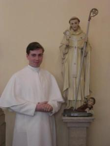 Br Stephen on the day of his clothing as a novice. 27/08/09