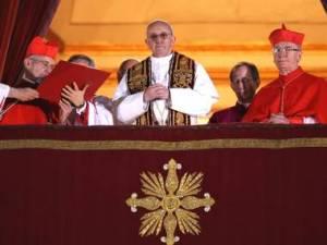 Pope Francis, giving his Urbi et Orbi blessing.