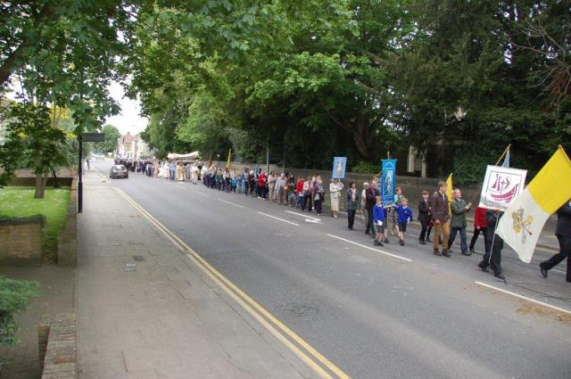 The people of Chelmsford turned out in force for the procession.
