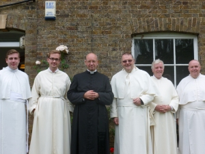 Fr Bede and some of our confreres after the retreat.