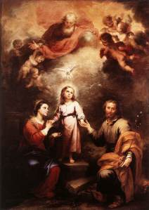 The heavenly and earthly Trinities, by Murillo