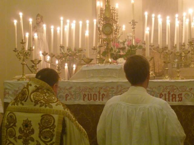 Praised be the Blessed Sacrament of the Altar and the Immaculate Conception of the Blessed Virgin Mary. Amen.