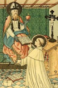 St Augustine gives the Holy Rule to St Norbert