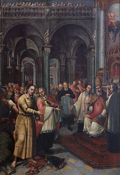 "The Ordination of St Norbert. ""I want to be ordained deacon and priest at the same time. My conscience demands it. You will not be able to understand it now, but you will understand it later."""