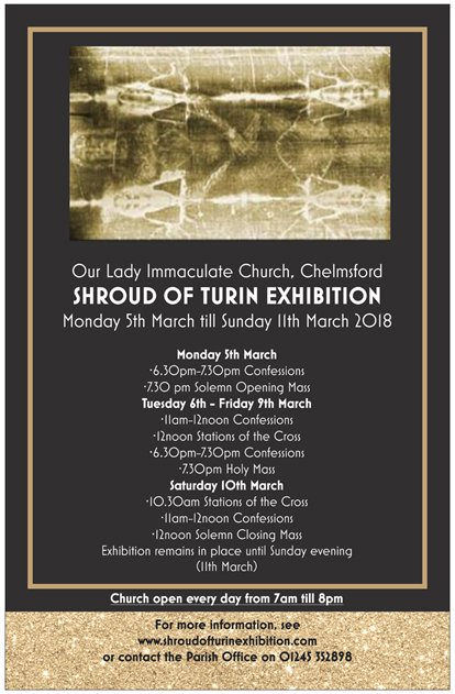Shroud of Turin Exhibition | Norbertine Vocations